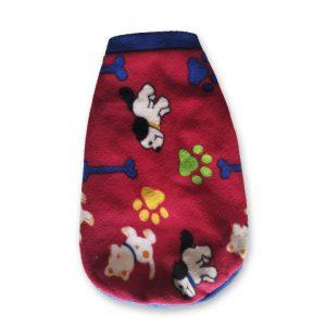 Capa de Polar Dog Roja